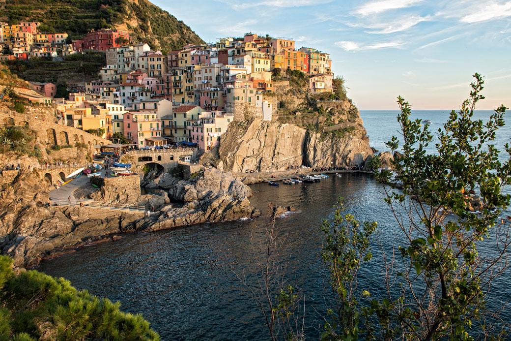 Le magnifique village de Manarola dans les Cinque Terre, Italie