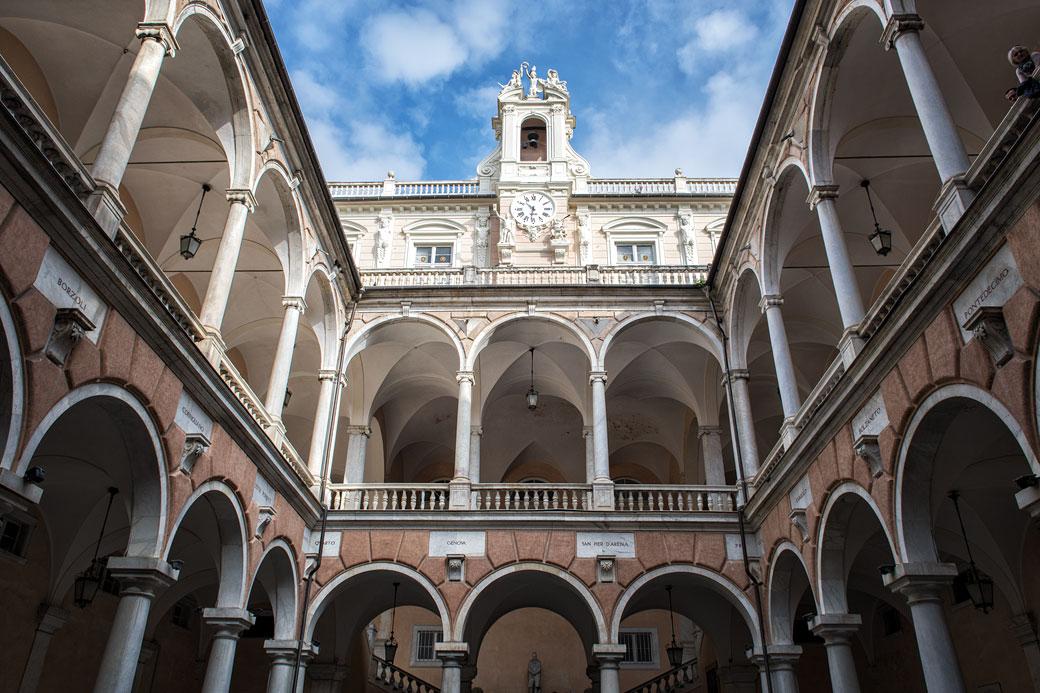 Palazzo Doria-Tursi qui héberge la municipalité de Gênes, Italie