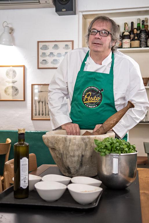 Roberto Panizza du restaurant il Genovese, Italie