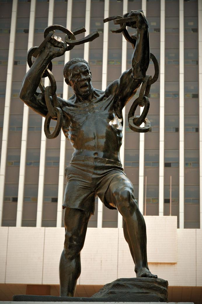 Statue de l'indépendance à Lusaka, Zambie