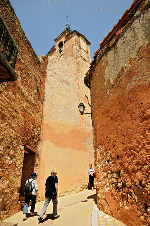 Le beffroi de Roussillon en Provence, France
