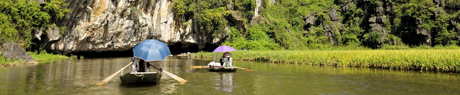 Top image barques à Tam Coc