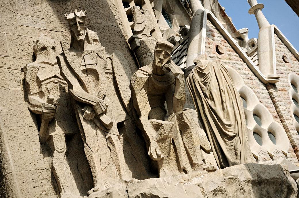 Ecce homo sur la façade de la Passion de la Sagrada Família