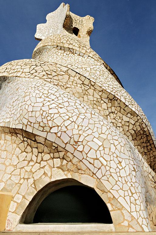 Sortie d'escaliers sur le toit de la Casa Milà à Barcelone