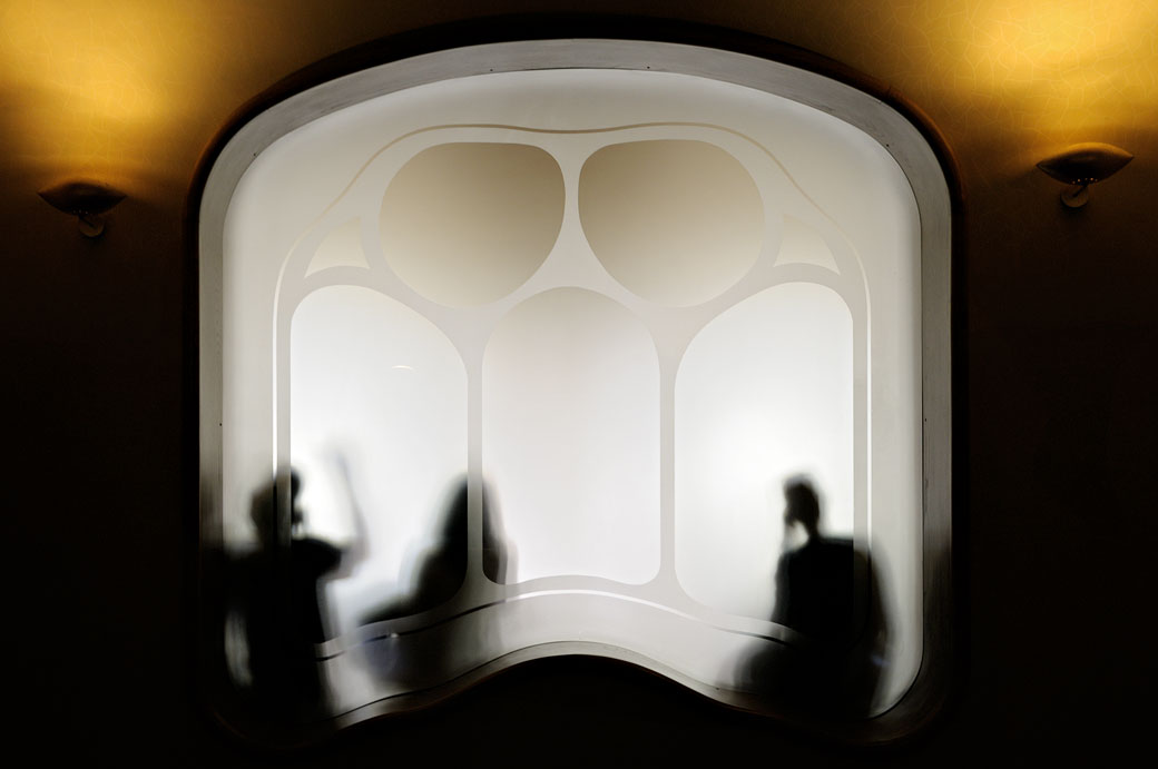 Ombres à l'intérieur de la Casa Batlló à Barcelone, Espagne