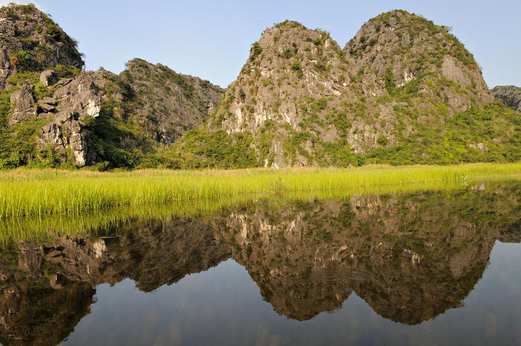 La réserve de Van Long et ses montagnes, Vietnam