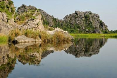 Réserve naturelle inondée de Van Long, Vietnam