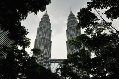 Les tours jumelles Petronas à Kuala Lumpur, Malaisie