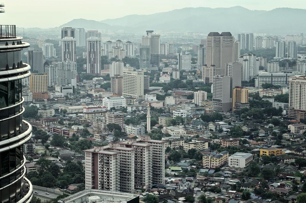 Kuala Lumpur depuis les tours Petronas, Malaisie