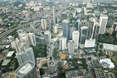Kuala Lumpur depuis le 86e étage des tours jumelles Petronas, Malaisie
