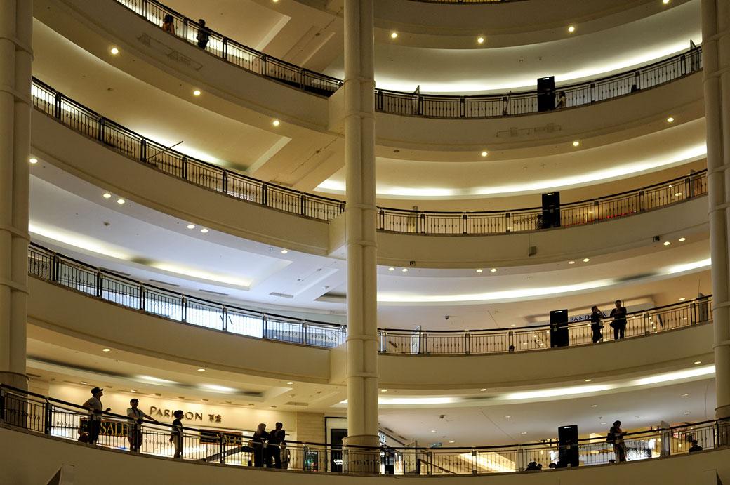 Centre commercial Suria KLCC à Kuala Lumpur, Malaisie