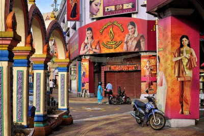 Couleurs de Brickfields à Kuala Lumpur, Malaisie