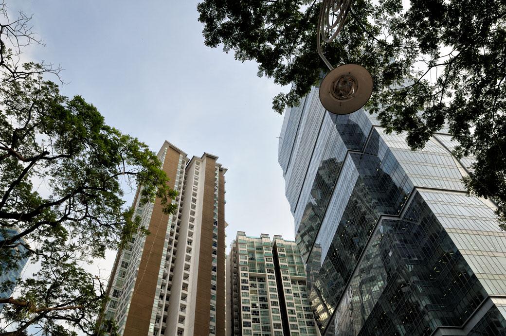 Bâtiments et arbres à Kuala Lumpur, Malaisie
