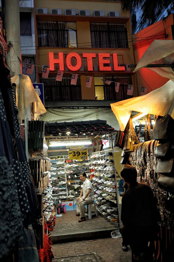 Hôtel et marché à Pedaling Street à Kuala Lumpur