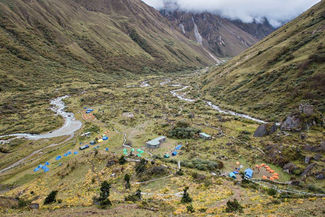 Camp de Jangothang et haute vallée, Bhoutan