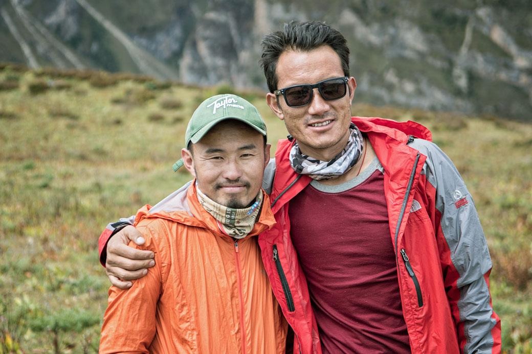 Nos guides Kesang et Jigme, Bhoutan