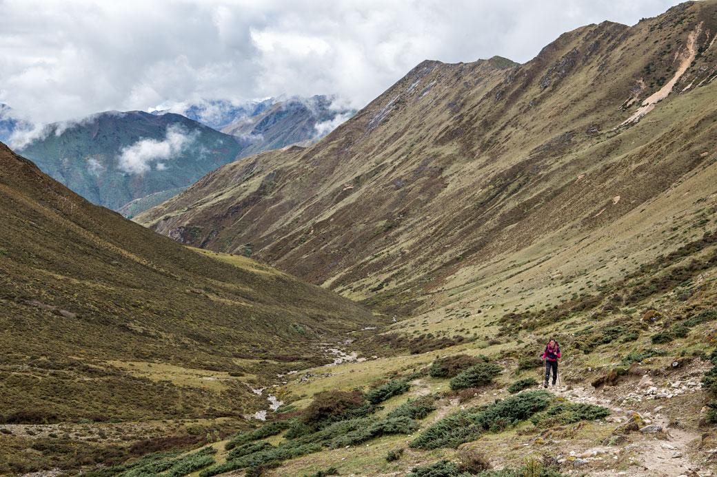 Montée vers le col de Jare La, Bhoutan