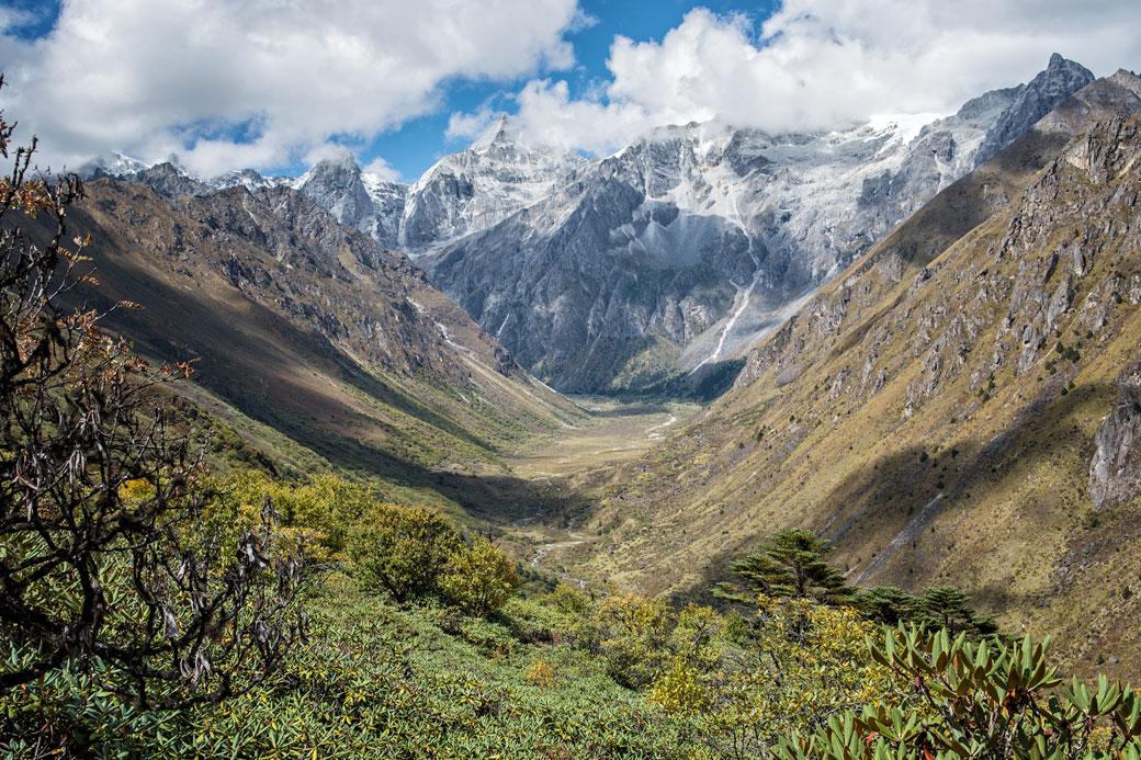 Vallée inhabitée entre Jare La et Robluthang, Bhoutan