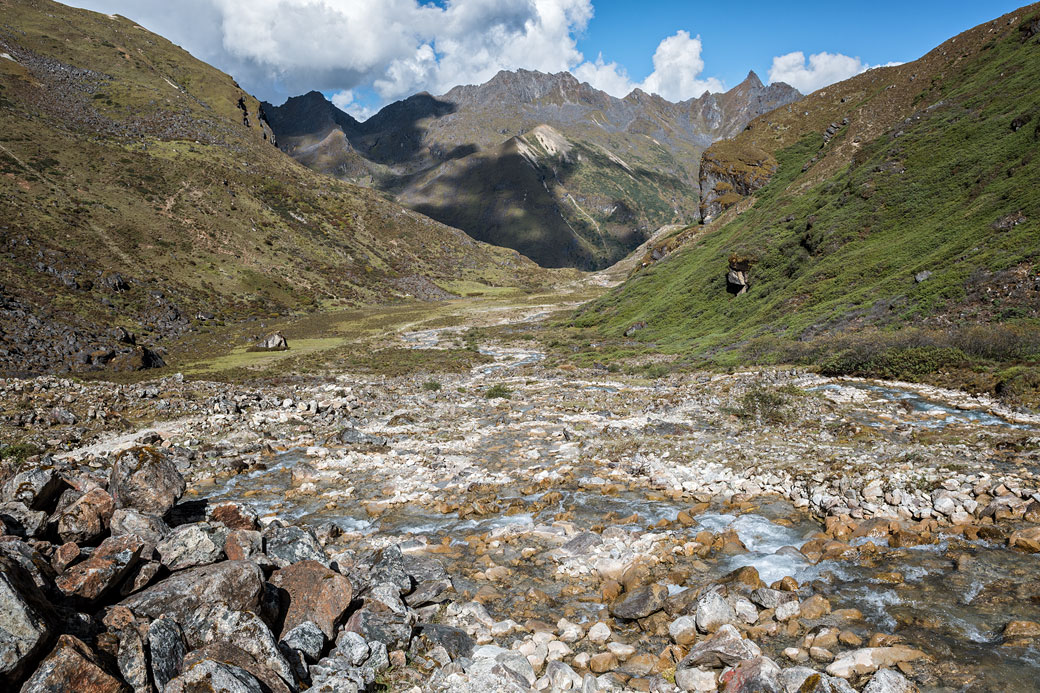 Petit ruisseau en route pour Lemithang, Bhoutan