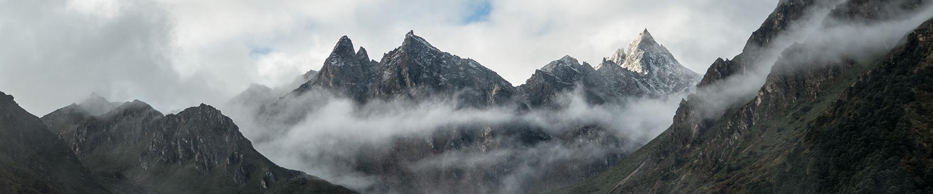Top image montagnes depuis Laya, Bhoutan
