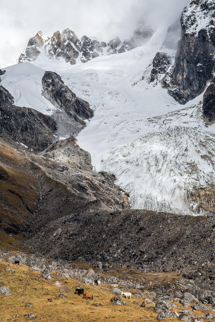 Glacier au-dessus du camp de Narethang, Bhoutan