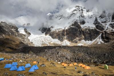 Glaciers et sommets au-dessus du Narethang, Bhoutan