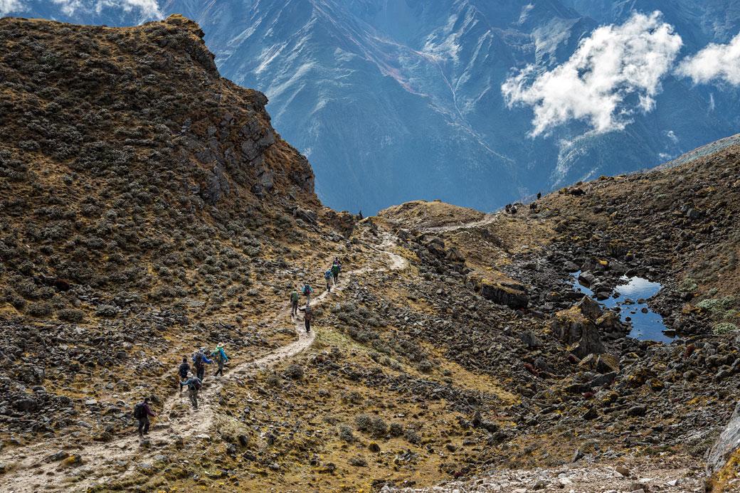 Descente depuis le col de Keche La, Bhoutan