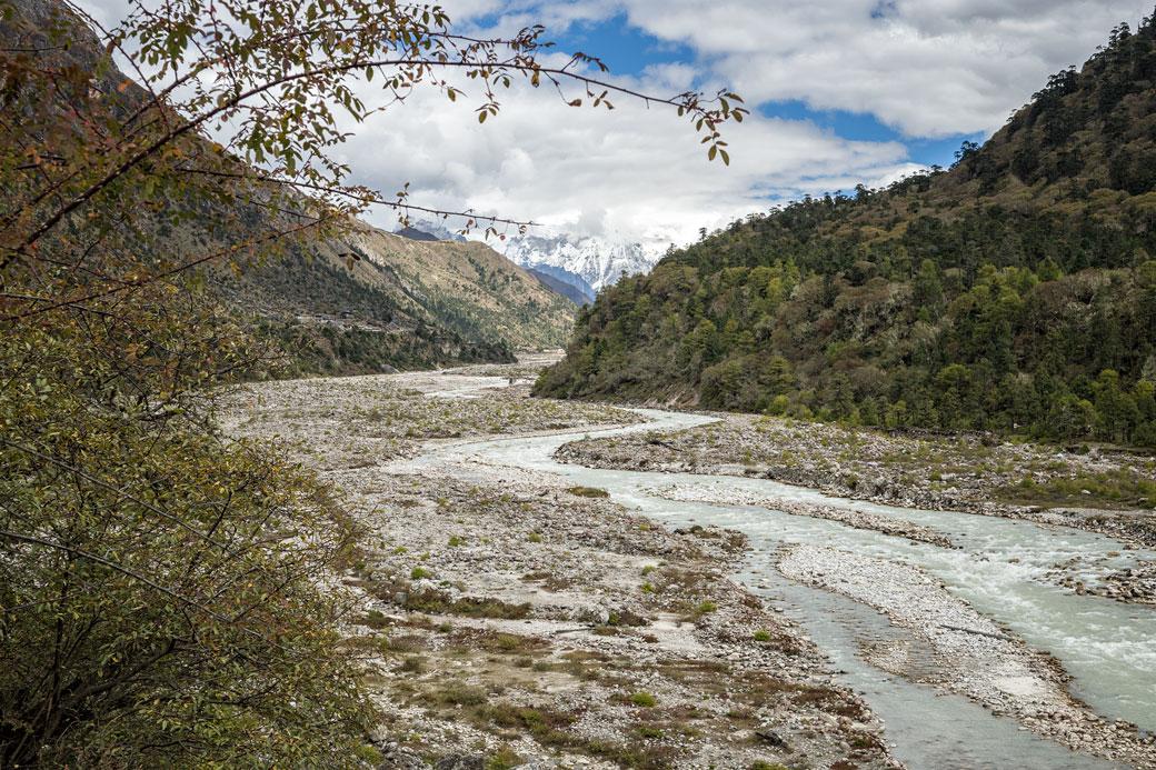 Vallée reculée près de Lhedi, Bhoutan