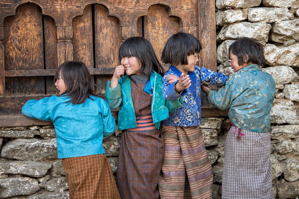 Enfants joyeux de Lhedi, Bhoutan