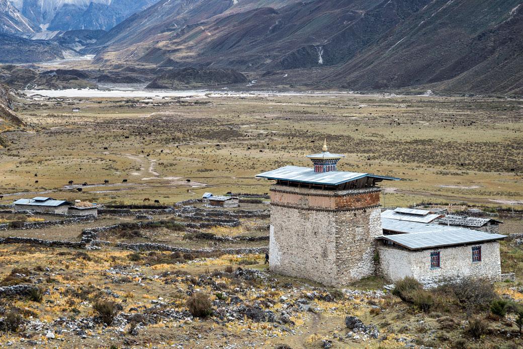 Le vieux dzong de Chozo, Bhoutan