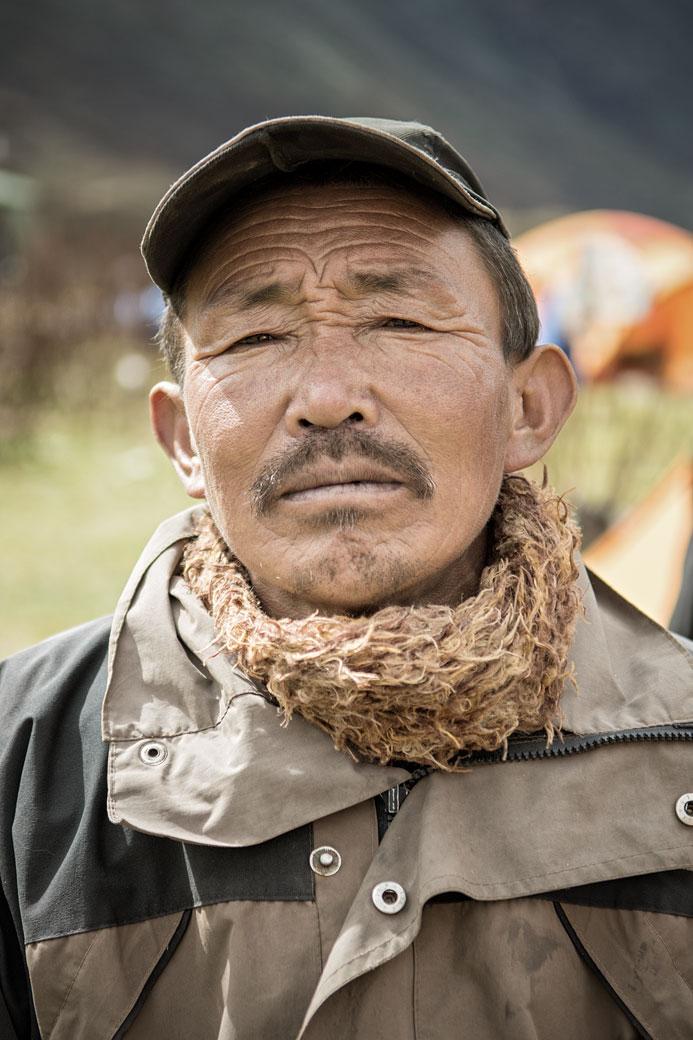 Portrait d'un homme fier de Chozo, Bhoutan