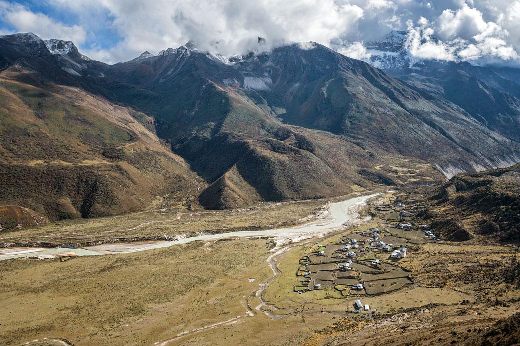 Au-dessus du village de Chozo, Bhoutan