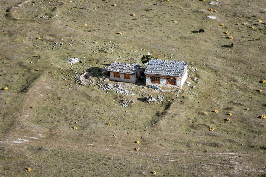 Maison isolée près de Chozo, Bhoutan