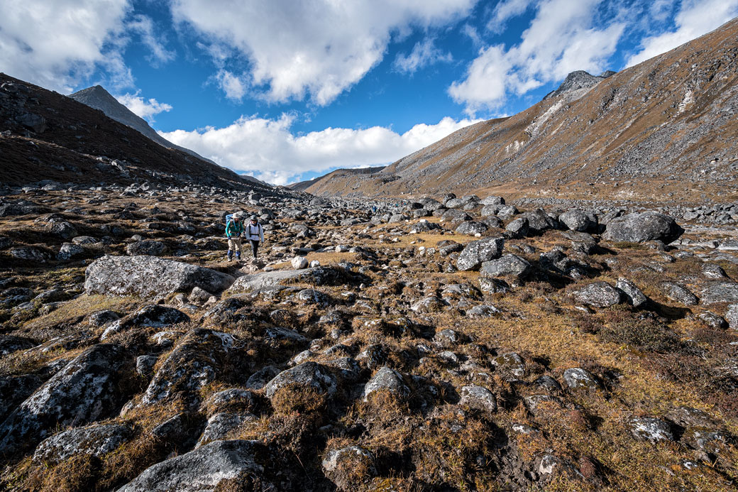 Vallée près du camp de Chukarpo, Bhoutan