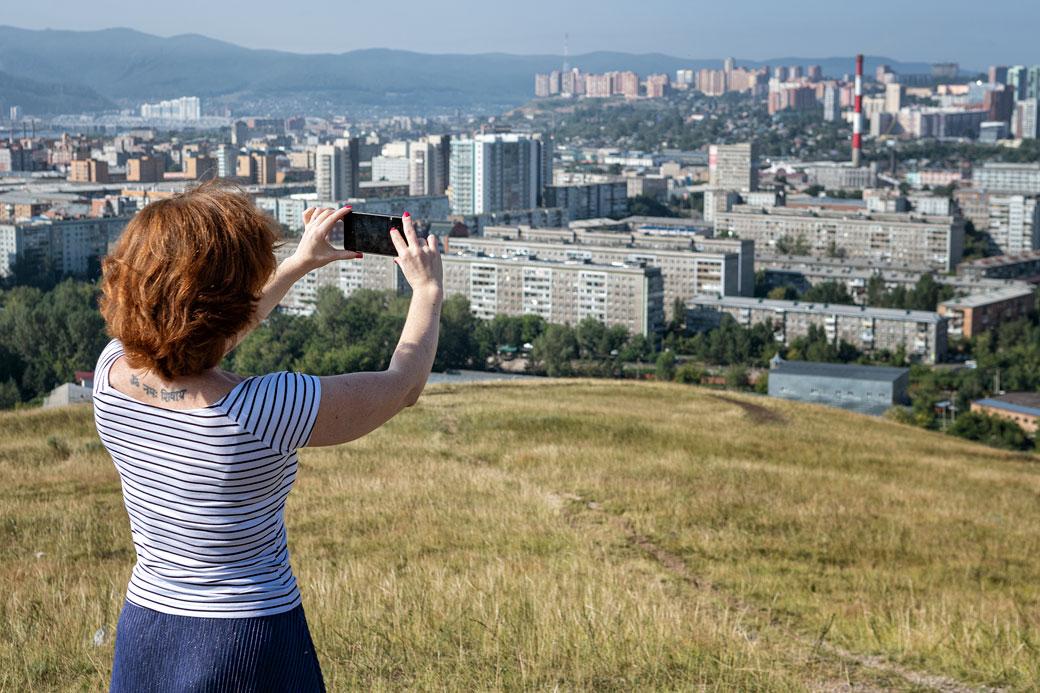 Victoria immortalise Krasnoyarsk, Russie