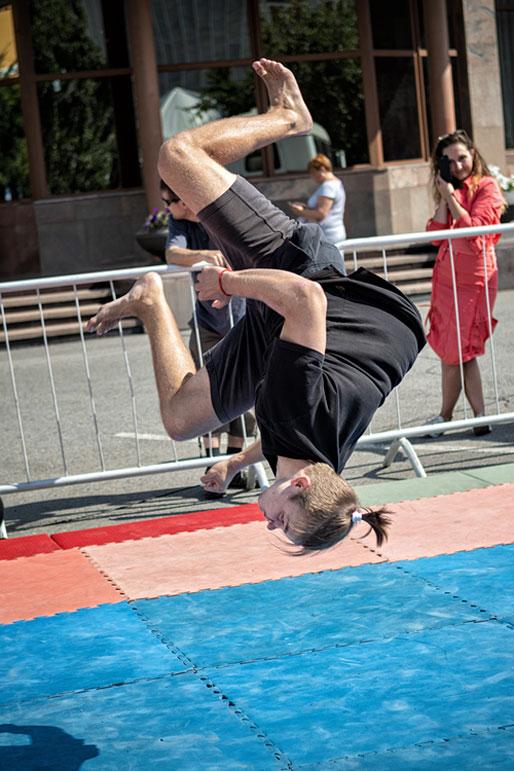Jeune gymnaste à Krasnoyarsk, Russie