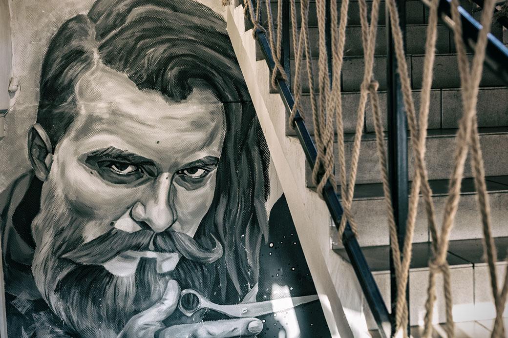 Peinture à l'intérieur de Yushin Brothers, Russie