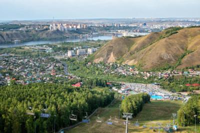Télésiège au parc de loisirs Bobrovy Log près de Krasnoyarsk, Russie