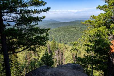 Forêt sibérienne depuis le rocher du grand-père, Russie