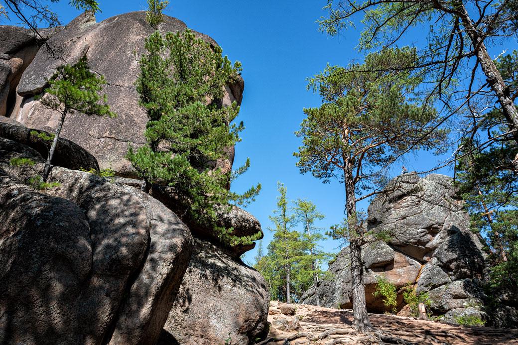 Les rochers des plumes et de la porte du lion, Russie