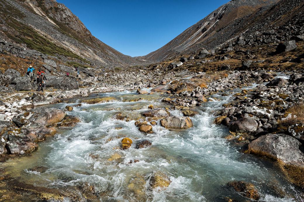 Rivière Thampe Chhu en route pour Tampoe Tsho, Bhoutan