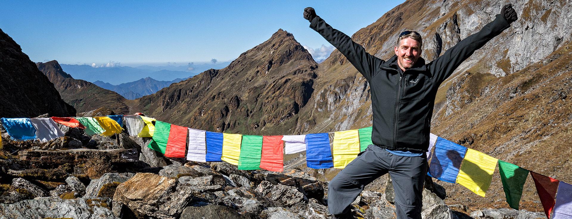 Pascal Boegli au col de Tempe La, Bhoutan