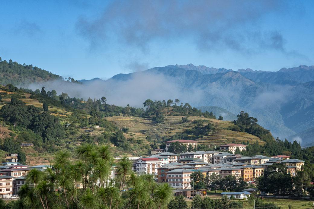 Punakha et ses montagnes, Bhoutan