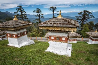 Panorama depuis les chortens du col de Dochula, Bhoutan
