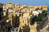 Vue sur les bâtiments de La Valette, Malte