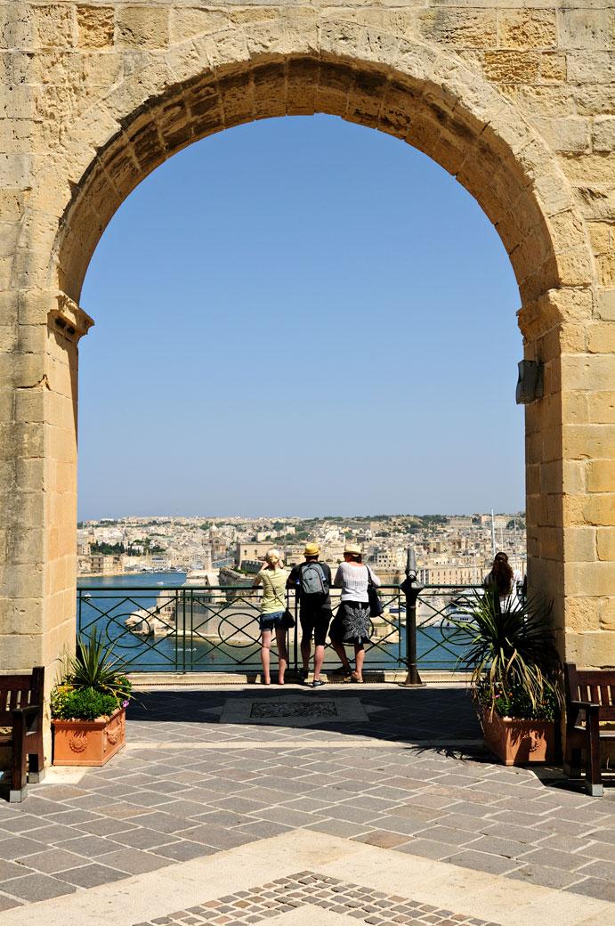 Arche aux jardins supérieurs de Barrakka, Malte