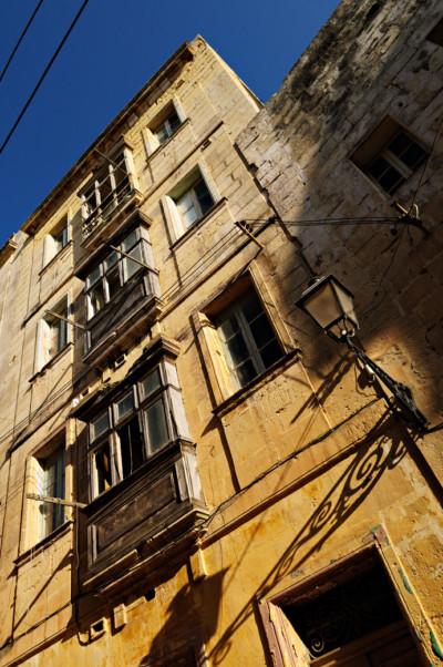 Façade d'un bâtiment de Birgu, Malte