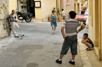 Scène de rue à Birgu, Malte