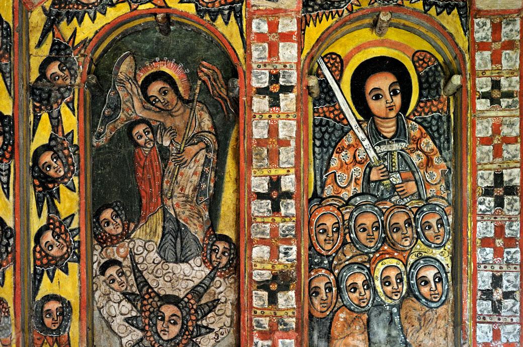 Peintures murales dans l'église Narga Sélassié, Ethiopie