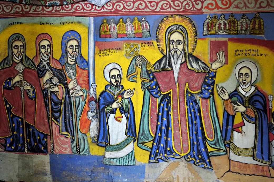 Peintures murales de l'église Beta Giorgis, Ethiopie